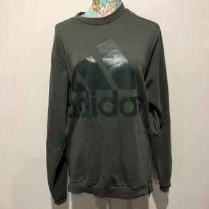 women's dark green Adidas jumper size M